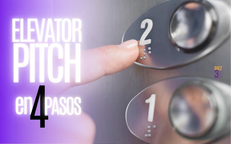 Una mujer aprieta un botón del ascensor